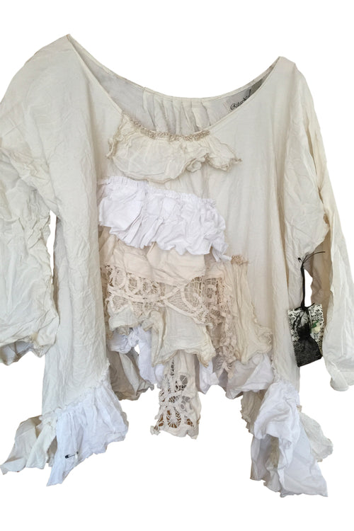 Ruffle Front Top Ginny RitaNoTiara Southern Gothic Couture