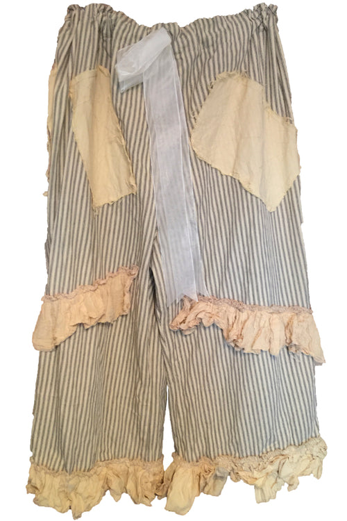 Eudora Stripe Cotton Trousers RitaNoTiara Southern Gothic Couture