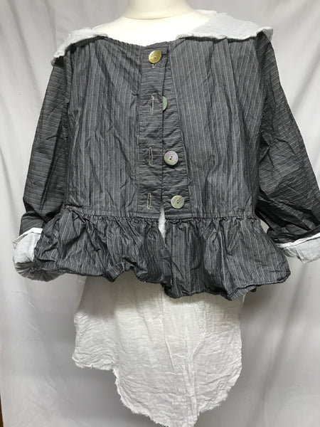 Cotton Stripe Jacket RitaNoTiara Southern Gothic Couture boho chic