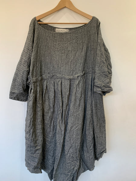 Ready to Ship May Grey Wool Dress One Size