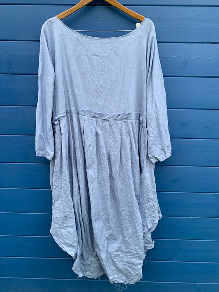 Ready to Ship Chambray Blue Linen May Dress One Size