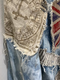 Ready to Ship London Vintage Denim Jacket Free Size