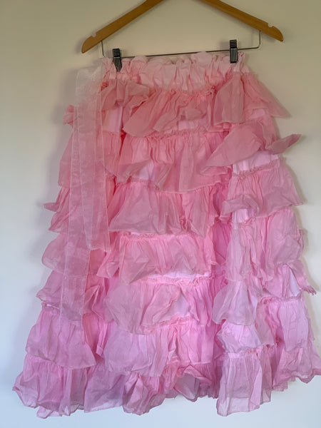 Ready to Ship Candy Pink Villanelle Skirt Free Size