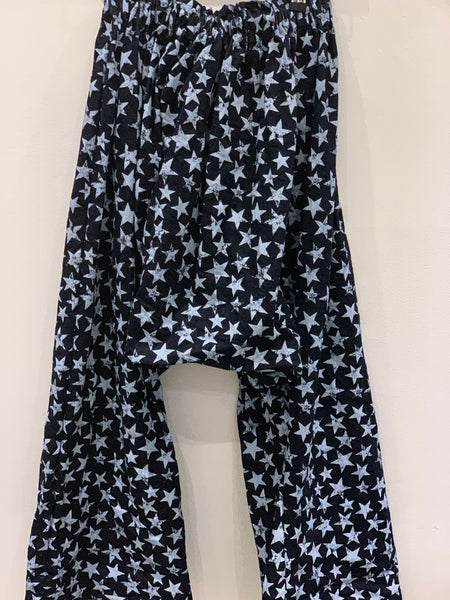 2 Ready to ship Denim Star Print Harem Pants