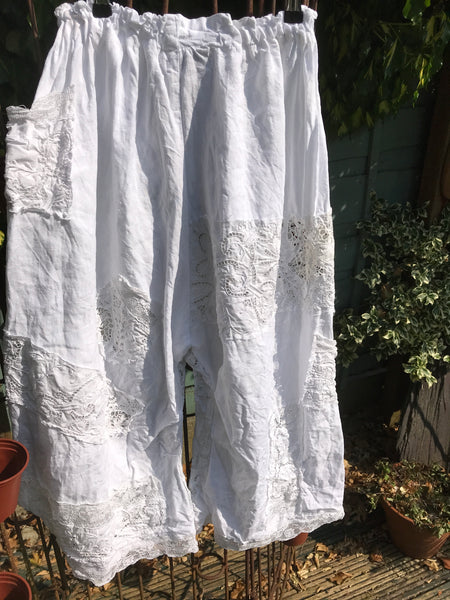 Southern Gothic White Embroidered Bloomers