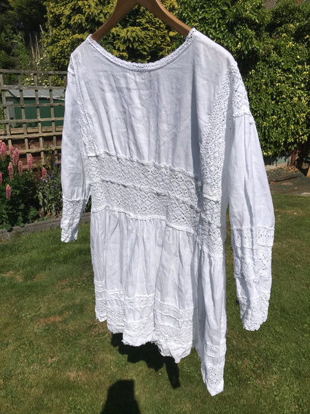 Baboushka Cotton and Lace Dress