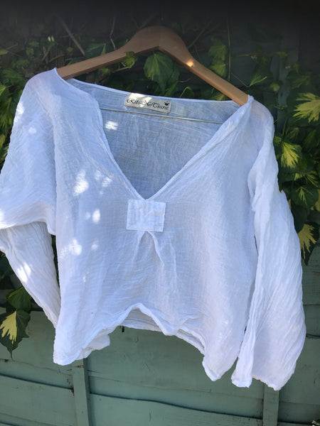 Ready to Ship Gauze Short Top One Size
