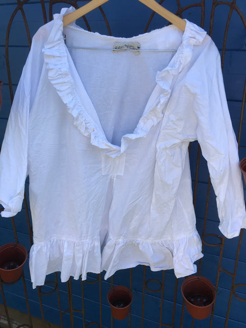 Ready to Ship  Saffy Pure Cotton Prairie Top