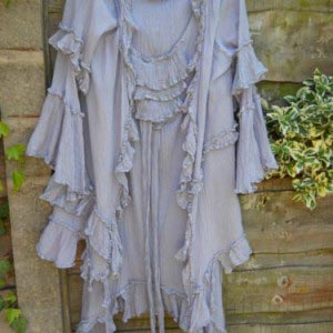 Ruffle Jacket and Long Top Suit