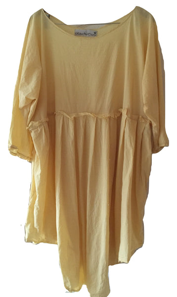 a258b6ee12 May European Linen Dress Empire line style raw edges distressed aged ...