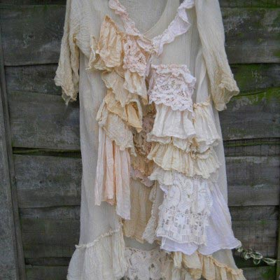 Mary Ruffle Dress and Coat Suit Mother of the bride  groom boho Bridal