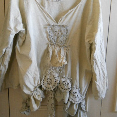 Vintage Crochet Junkin Dallas Top RitaNoTiara Southern Gothic Couture