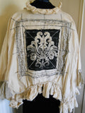 Fallen Angel Handprinted Jacket. RitaNoTiara Southern Gothic Coutur