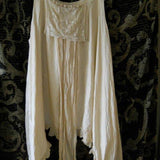 Vintage lace train Dress lagenlook boho RitaNoTiara Southern Gothic