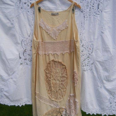 Sally Vintage lace Dress lagenlook boho RitaNoTiara Southern Gothic