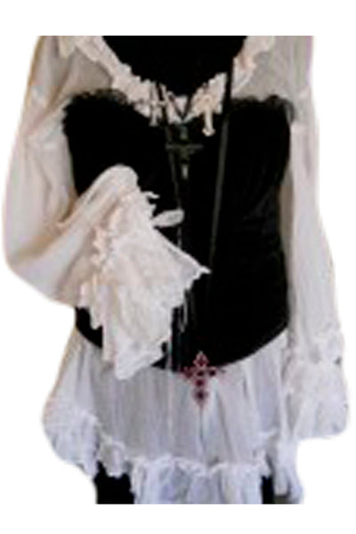 New Romantic Pirate shirt boho chic RitaNoTiara Southern Gothic Couture