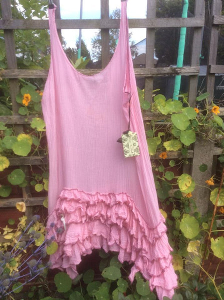 Belle Frill Pinafore Dress