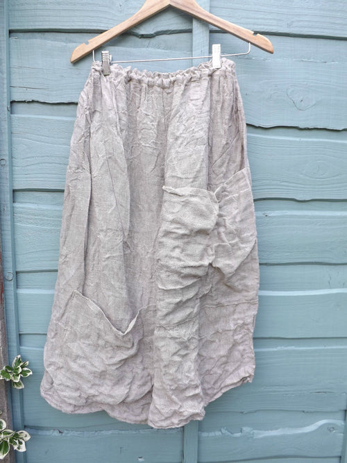 Natural Linen Wide Leg Trousers