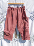 Linen Oversized pocket pants Funky Lagenlook RitaNoTiara Southern Gothic