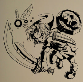 Legend of Zelda Kid Link Wall Vinyl Decal