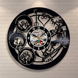 Kingdom Hearts Vinyl Record Design Wall Clock