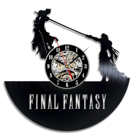 Final Fantasy VII Cloud Impaled by Sephiroth Vinyl Wall Clock