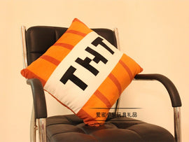 Minecraft Throw Pillow Plush TNT Theme