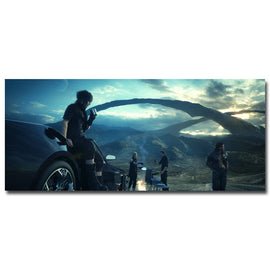 Final Fantasy XV Vedio Noctis  Art Silk Fabric Poster