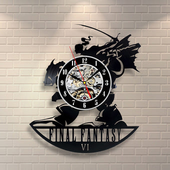 Final Fantasy VI Vinyl Record Wall Clock Art