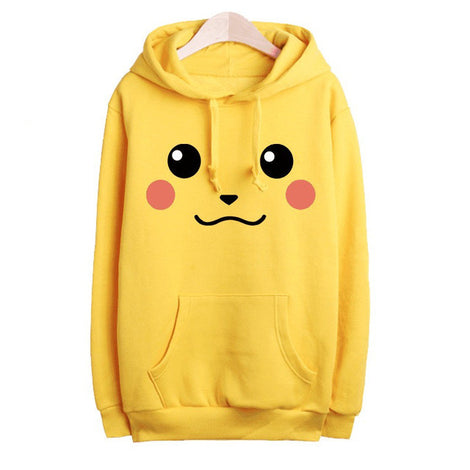 Women's Pokemon Pikachu Sweatshirt Yellow Pullover Hoodies