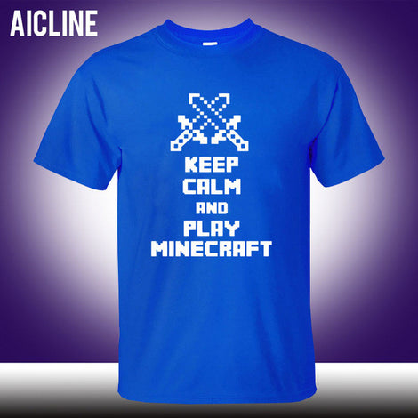 Keep Calm and Play Minecraft Short Sleeve T-Shirt