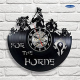 World of Warcraft Vinyl Wall Clock Vintage Decor