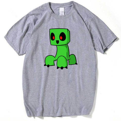 Minecraft Chibi Creeper Cotton T-Shirt