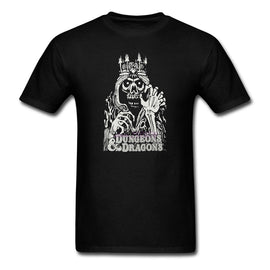Dungeons & Dragons Lich 100% Cotton Shirts Classical Round Neck T Shirts