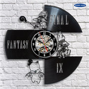 Final Fantasy VIII Wall Clock Made Of Vinyl Record