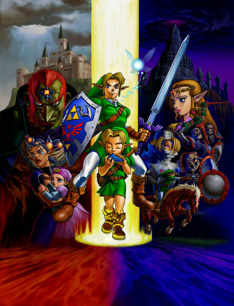 The Legend Zelda Game Hero of Time Poster (50x76cm size)