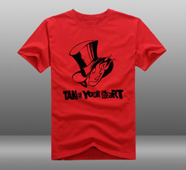 Persona 5 TAKE YOUR HEART Cotton Summer Short-sleeve Tees tops