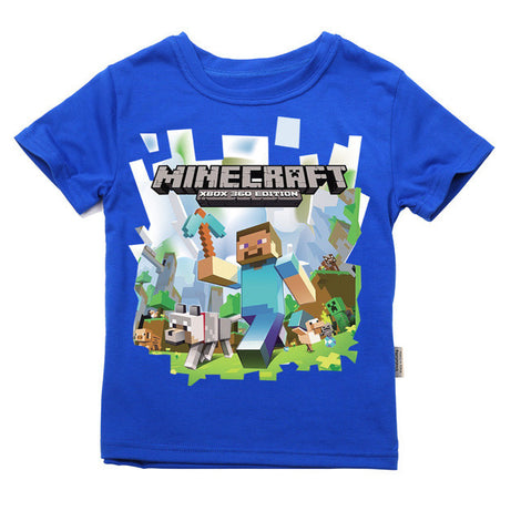 Children's Short Sleeve Minecraft Logo T Shirt