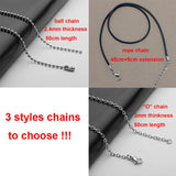 Stainless Steel Elder Scrolls: Skyrim Dragon Pendant Necklace 50cm chains