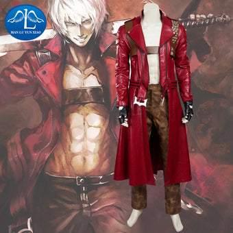 Devil May Cry 3 Dante Cosplay Costume Deluxe Outfit