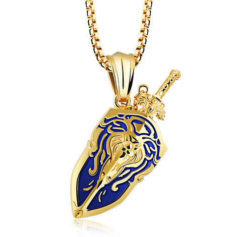 World of Warcraft Alliance Lion Stormwind necklace pendant