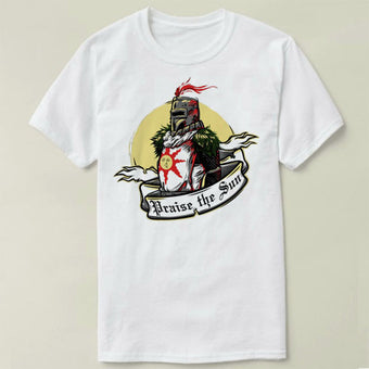 Praise the Sun Dark souls Tee Summer cotton short sleeve t-shirt