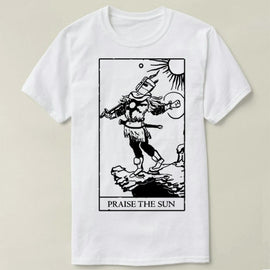 Dark Souls Praise the Sun Tarot Card cotton short sleeve t-shirt