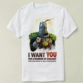 I Want You For a Warrior of Sunlight Dark Souls Praise the Sun Tee Summer Cotton Short Sleeve T-shirt