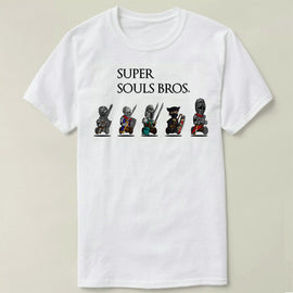 Dark Souls Super Mario Bros. Parody Summer Cotton Short Sleeve T-shirt
