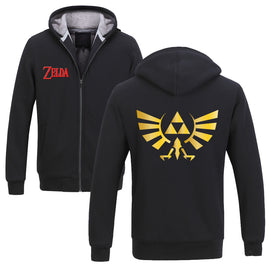 The Legend of Zelda Zip Hoodie Sweatshirts Hylian Crest