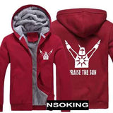 Dark Souls Praise the Sun Thick Hooded Warm Jacket Coat for Gamers