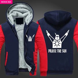 Dark Souls Praise The Sun Thick Hooded Warm Jacket Coat Hoodie