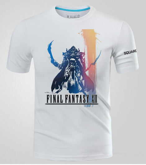 Final Fantasy XII 12 Logo Short T-shirts