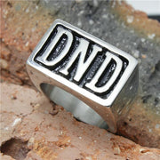 Men's 316L Stainless Steel DND Biker Ring